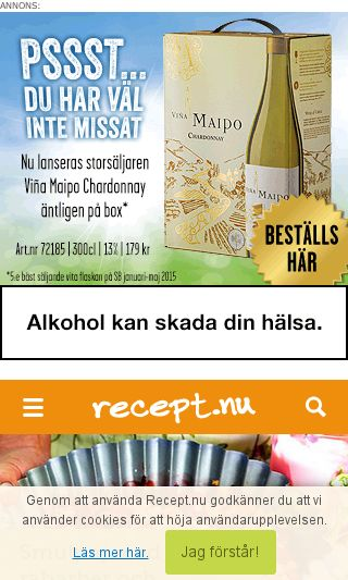 Mobile preview of recept.nu