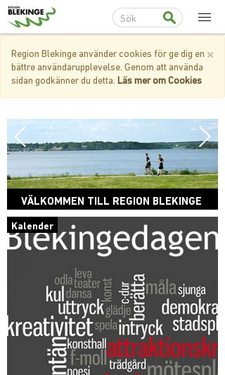 Mobile preview of regionblekinge.se