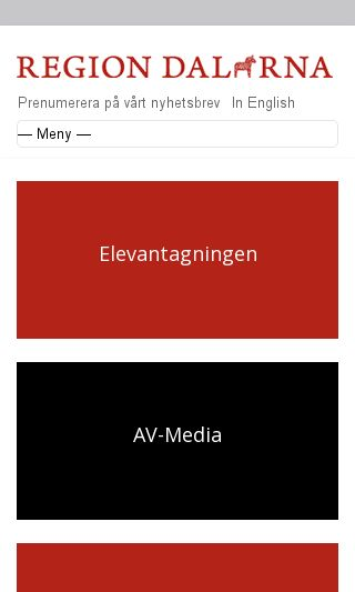 Mobile preview of regiondalarna.se