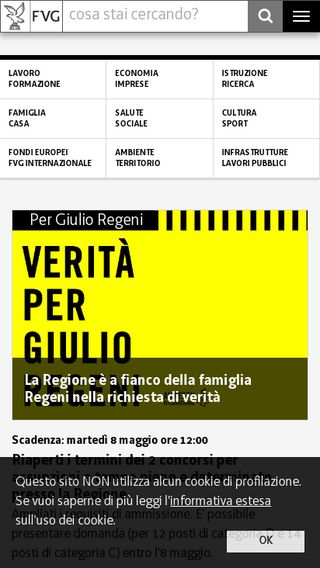 Mobile preview of regione.fvg.it