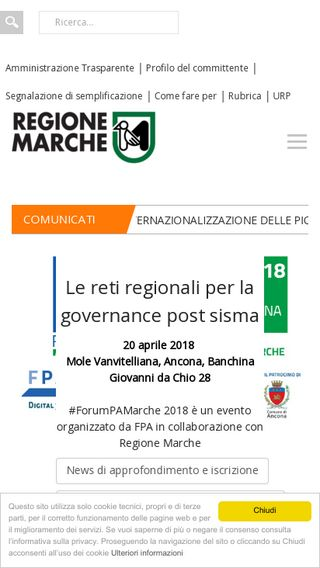 Mobile preview of regione.marche.it