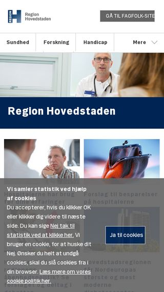 Mobile preview of regionh.dk