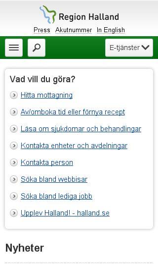 Mobile preview of regionhalland.se