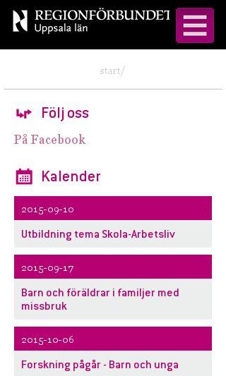 Mobile preview of regionuppsala.se