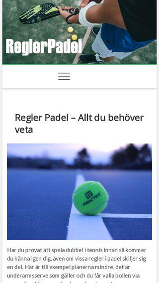Mobile preview of reglerpadel.se