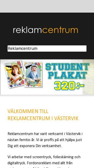 Mobile preview of reklamcentrum.nu