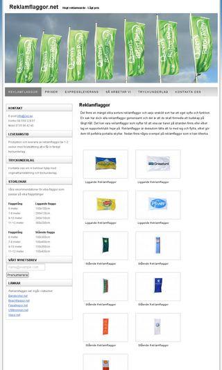 Mobile preview of reklamflaggor.net
