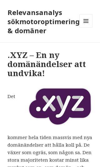 Mobile preview of relevansanalys.se