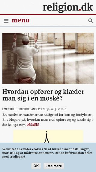 Mobile preview of religion.dk