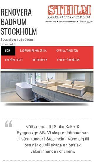 Mobile preview of renoverabadrumstockholm.nu