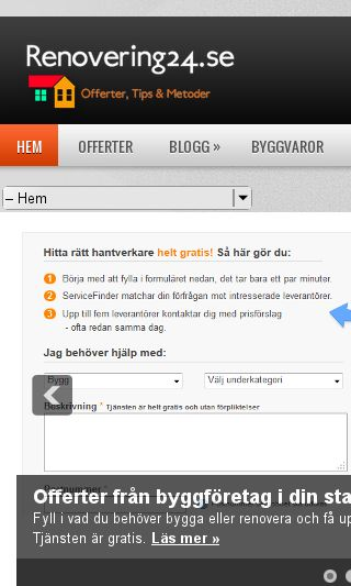 Mobile preview of renovering24.se