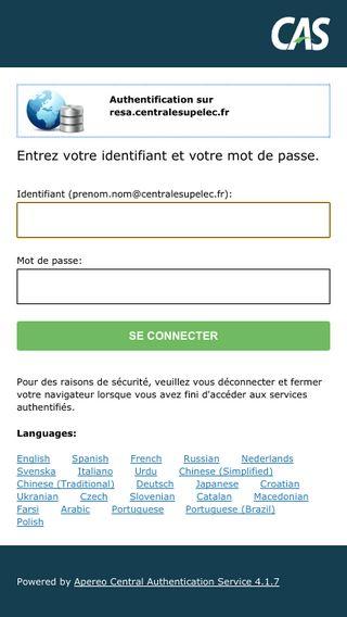 Mobile preview of resa.centralesupelec.fr