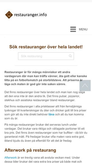 Mobile preview of restauranger.info