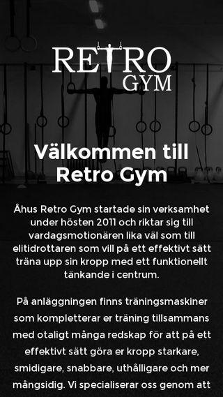 Mobile preview of retrogym.se