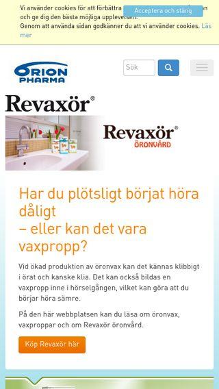 Mobile preview of revaxor.se