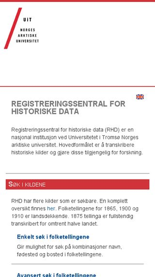 Mobile preview of rhd.uit.no