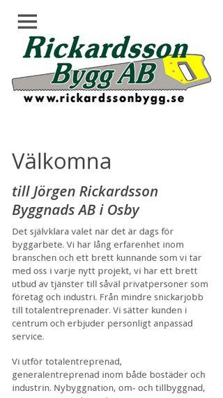 Mobile preview of rickardssonbygg.se