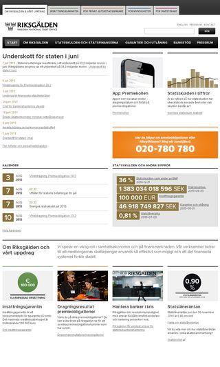 Mobile preview of riksgalden.se