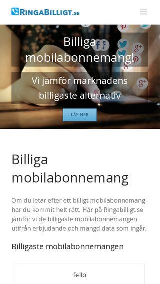 Mobile preview of ringabilligt.se