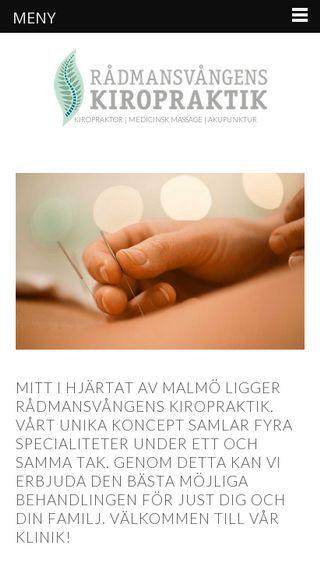 Mobile preview of rmvkiropraktik.se