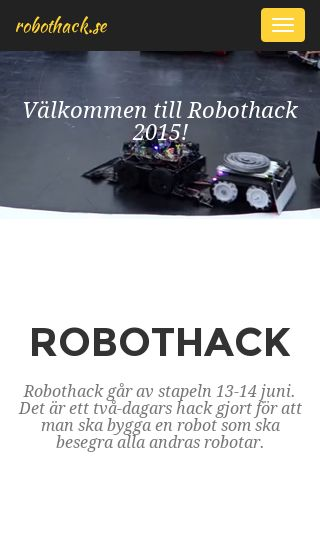 Mobile preview of robothack.se