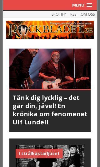 Mobile preview of rockbladet.se