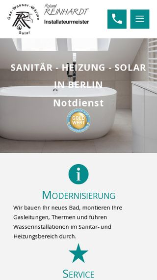Mobile preview of rolandreinhardt.de