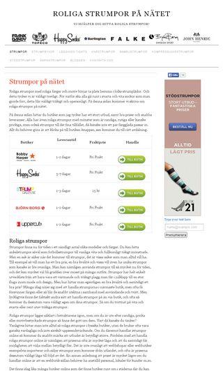 Mobile preview of roligastrumpor.nu