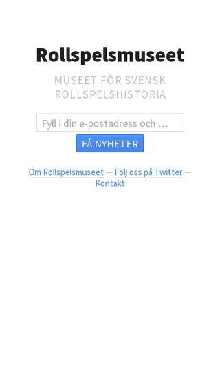 Mobile preview of rollspelsmuseet.se