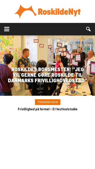 Mobile preview of roskildenyt.dk