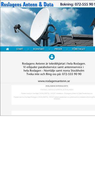 Mobile preview of roslagensantenn.nu