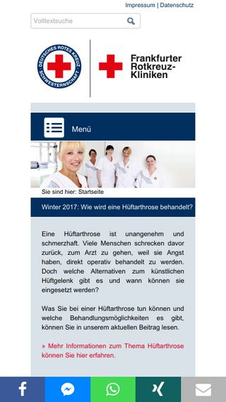 Mobile preview of rotkreuzkliniken.de