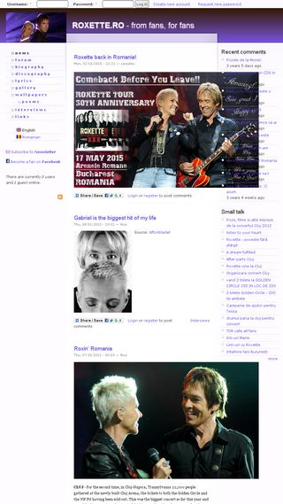 Mobile preview of roxette.ro