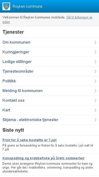 Mobile preview of royken.kommune.no