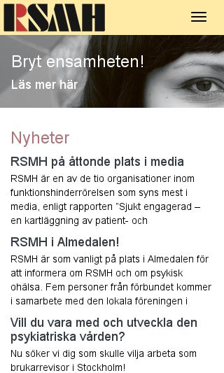Mobile preview of rsmh.se