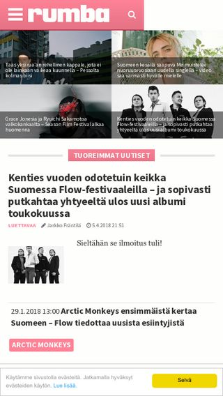 Mobile preview of rumba.fi