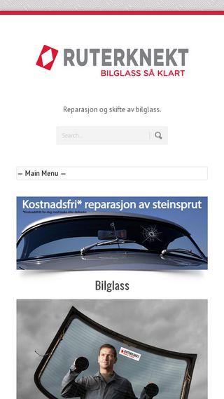 Mobile preview of ruterknekt.no