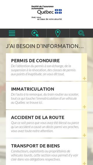 Mobile preview of saaq.gouv.qc.ca