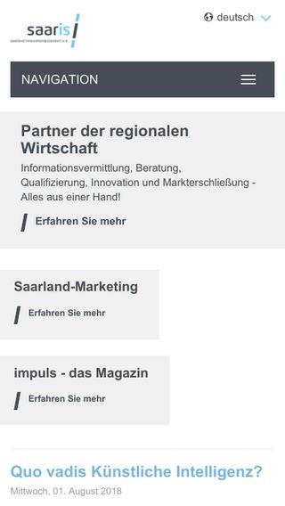Mobile preview of saaris.de
