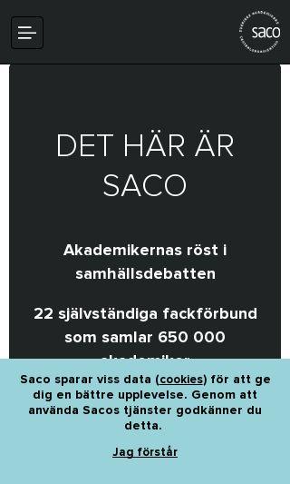 Mobile preview of saco.se