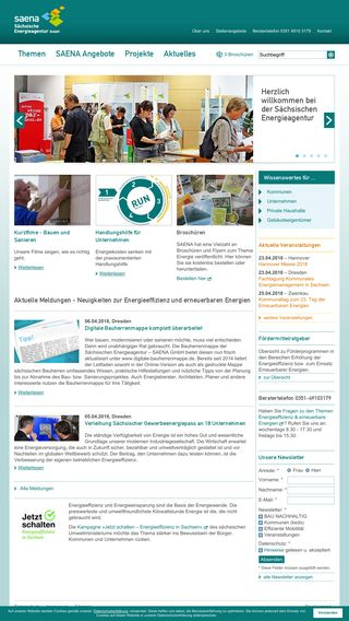 Mobile preview of saena.de
