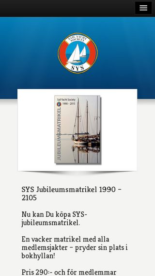 Mobile preview of sailyachtsociety.se
