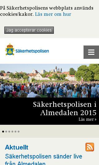 Mobile preview of sakerhetspolisen.se
