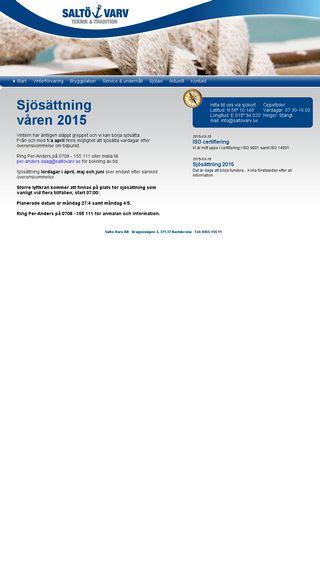 Mobile preview of saltovarv.se