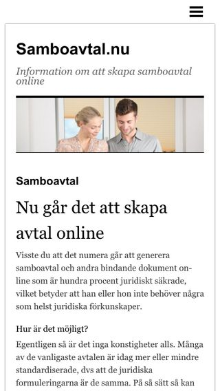 Mobile preview of samboavtal.nu