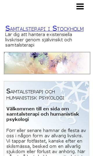 Mobile preview of samtalsterapi-i-stockholm.se