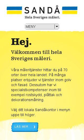 Mobile preview of sanda.se