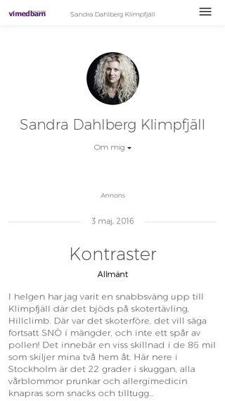 Mobile preview of sandradahlberg.vimedbarn.se