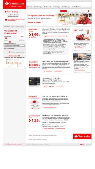 Mobile preview of santander.de
