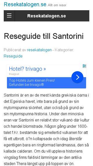 Mobile preview of santorini.se
